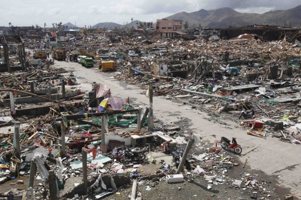 Thousands of homes were destroyed in Tacloban.